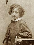 Whistler as a boy, Photograph c. 1844, Glasgow University Library PH1/93